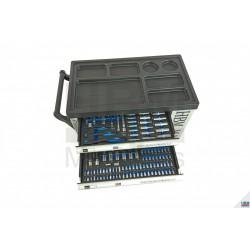 Carucior / Dulap scule 245 piese, 7 sertare - HBM9404