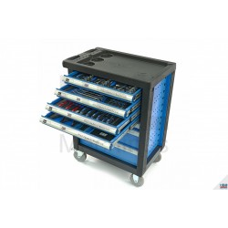 Carucior scule 154piese Premium ALBASTRU - H9408