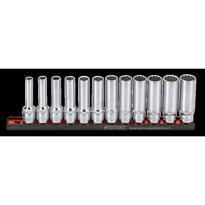Set tubulare lungi 1/2, 12piese - Sonic 301204