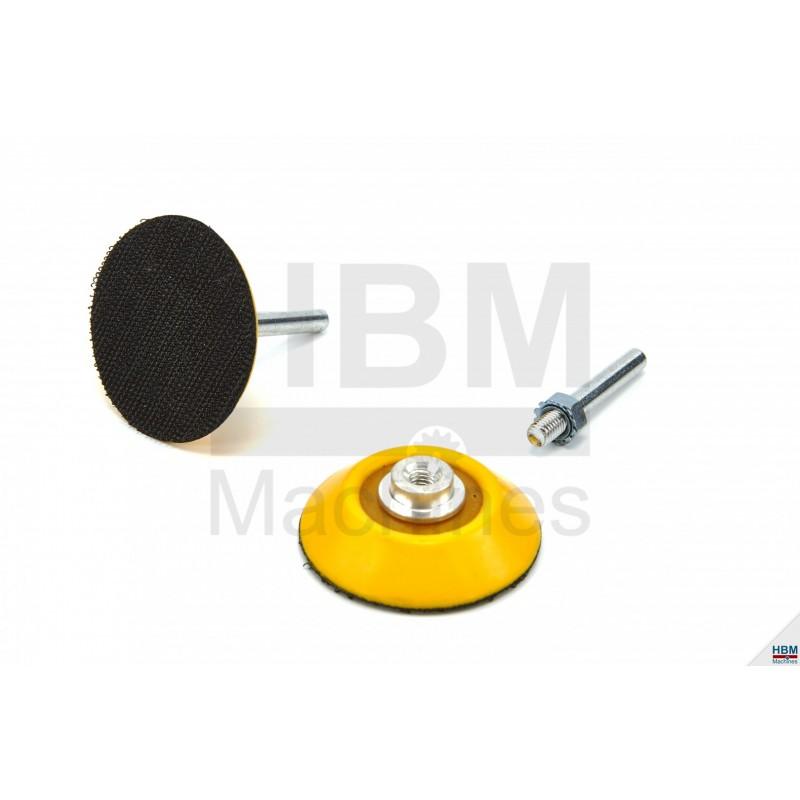 Pad slefuire Velcro 50mm cu ax 6mm